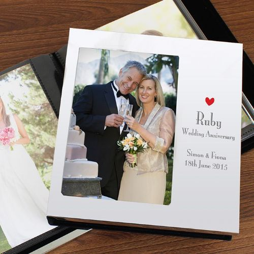 Decorative Ruby Anniversary Photo Frame Album 4x6